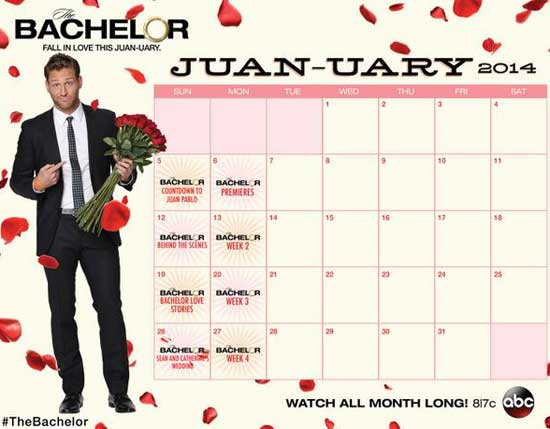 http://blog.zap2it.com/frominsidethebox/2014/01/bachelor-juan-uary-schedule-and-premiere-sneak-peek-videos.html